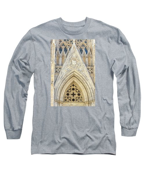 Long Sleeve T-Shirt featuring the photograph St. Patrick's Cathedral by Sabine Edrissi