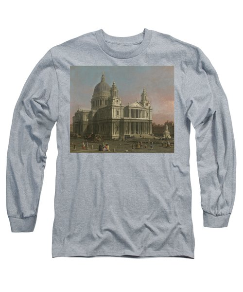 St. Paul's Cathedral Long Sleeve T-Shirt by Giovanni Antonio Canaletto