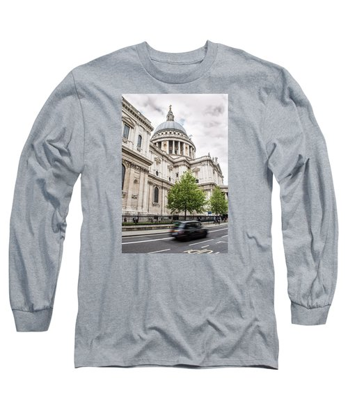 St Pauls Cathedral With Black Taxi Long Sleeve T-Shirt
