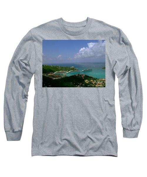 St. Thomas  Harbor Long Sleeve T-Shirt