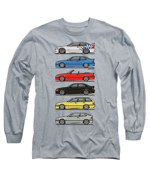 Stack Of E36 Variants Long Sleeve T-Shirt