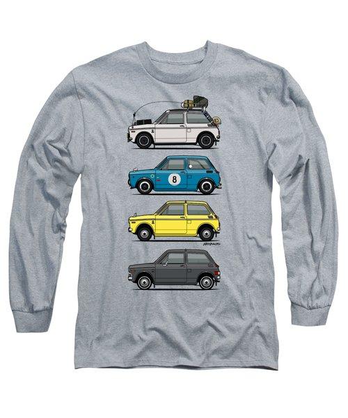Stack Of Honda N360 N600 Kei Cars Long Sleeve T-Shirt