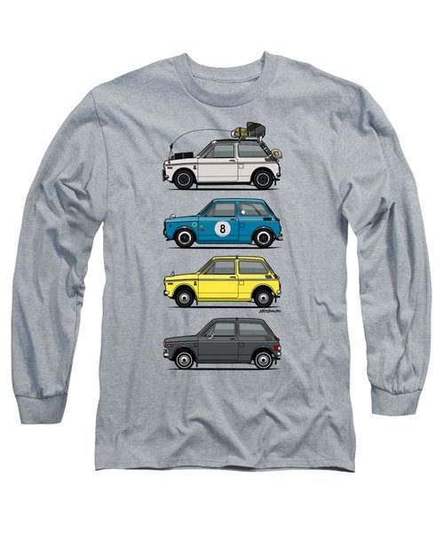 Stack Of Honda N360 N600 Kei Cars Long Sleeve T-Shirt