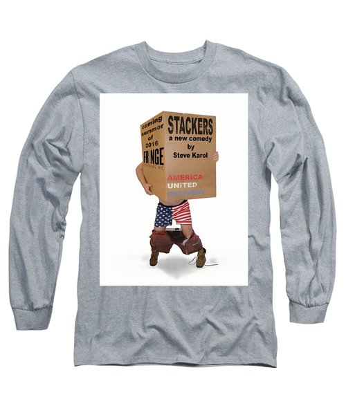 Stackers Poster Long Sleeve T-Shirt by Steve Karol