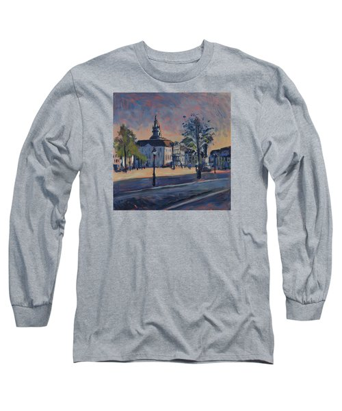 Long Sleeve T-Shirt featuring the painting Stadhuis Maastricht by Nop Briex