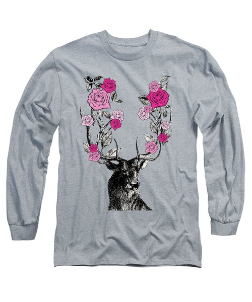 Stag And Roses Long Sleeve T-Shirt