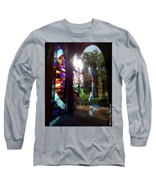 Stained Glass #4720 Long Sleeve T-Shirt by Barbara Tristan