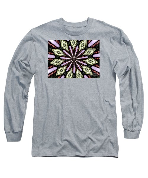 Long Sleeve T-Shirt featuring the photograph Stained Glass Kaleidoscope 25 by Rose Santuci-Sofranko