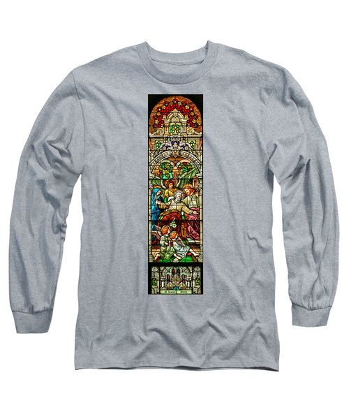 Long Sleeve T-Shirt featuring the photograph Stained Glass Scene 1 by Adam Jewell