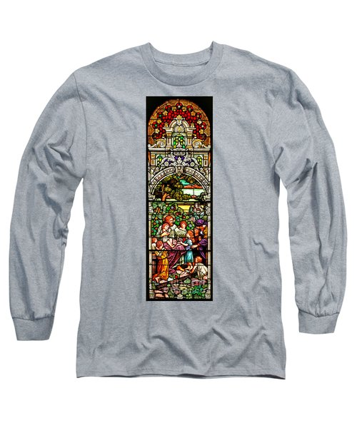 Long Sleeve T-Shirt featuring the photograph Stained Glass Scene 12 by Adam Jewell