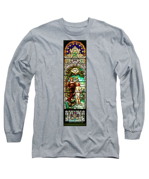 Long Sleeve T-Shirt featuring the photograph Stained Glass Scene 2 by Adam Jewell