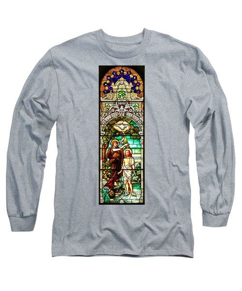 Long Sleeve T-Shirt featuring the photograph Stained Glass Scene 2 Crop 2 by Adam Jewell