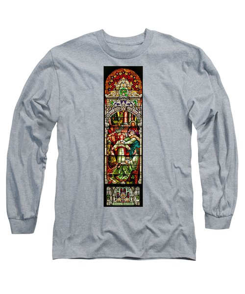 Long Sleeve T-Shirt featuring the photograph Stained Glass Scene 3 by Adam Jewell