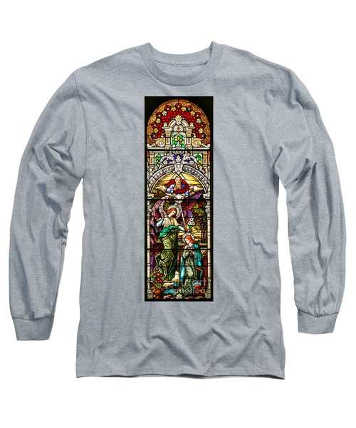 Long Sleeve T-Shirt featuring the photograph Stained Glass Scene 5 by Adam Jewell