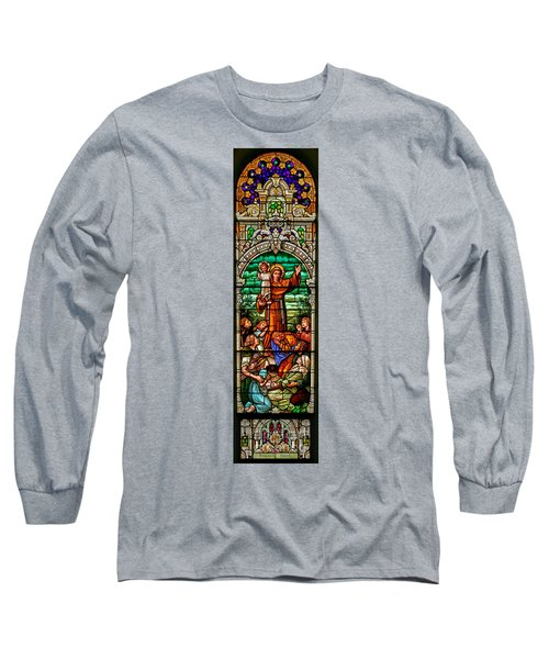 Long Sleeve T-Shirt featuring the photograph Stained Glass Scene 6 Full Size by Adam Jewell