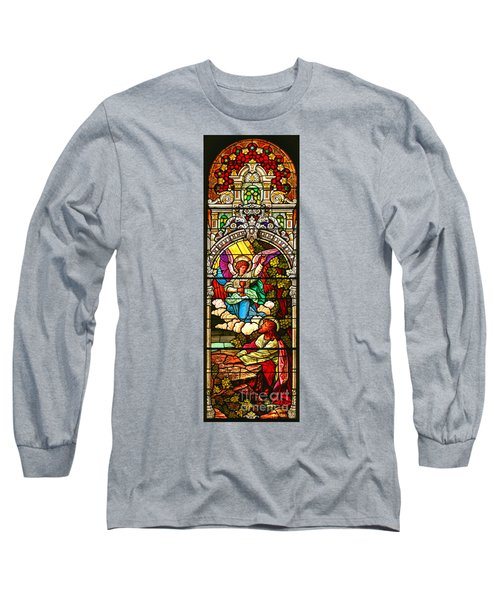 Long Sleeve T-Shirt featuring the photograph Stained Glass Scene 7 Crop by Adam Jewell
