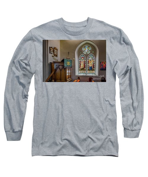 Long Sleeve T-Shirt featuring the photograph Stained Glass Uk by Adrian Evans