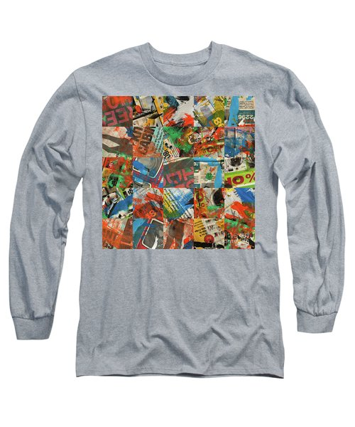 Stained Newspaper Pages Long Sleeve T-Shirt