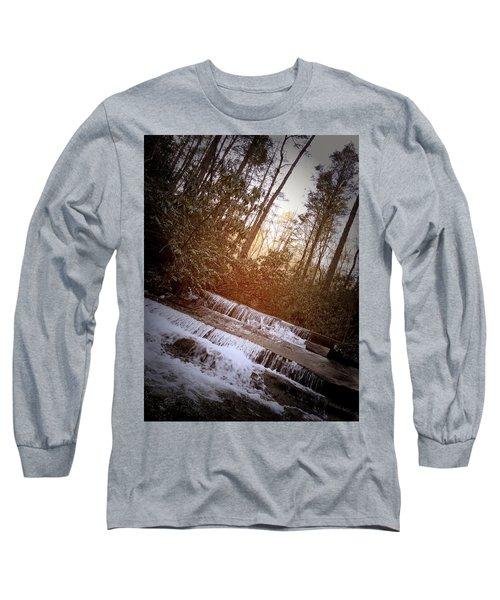 Stair Step Falls Table Rock South Carolina Long Sleeve T-Shirt by Kelly Hazel