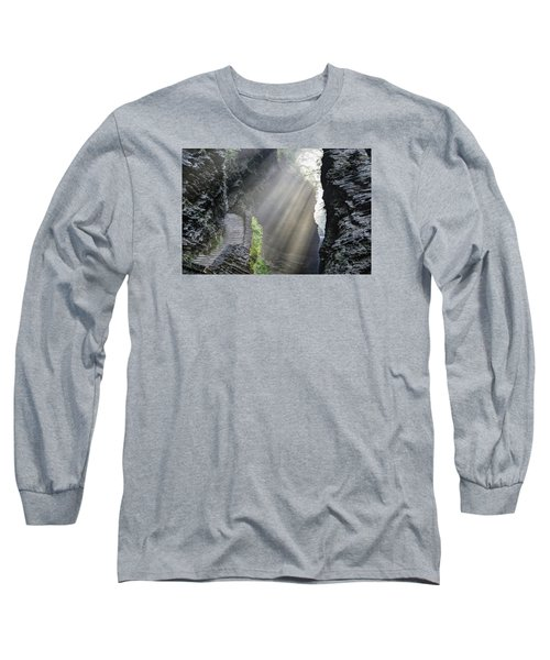 Long Sleeve T-Shirt featuring the photograph Stairway Into The Light by Gene Walls