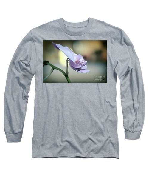 Standing Alone In Silence Long Sleeve T-Shirt by Diana Mary Sharpton