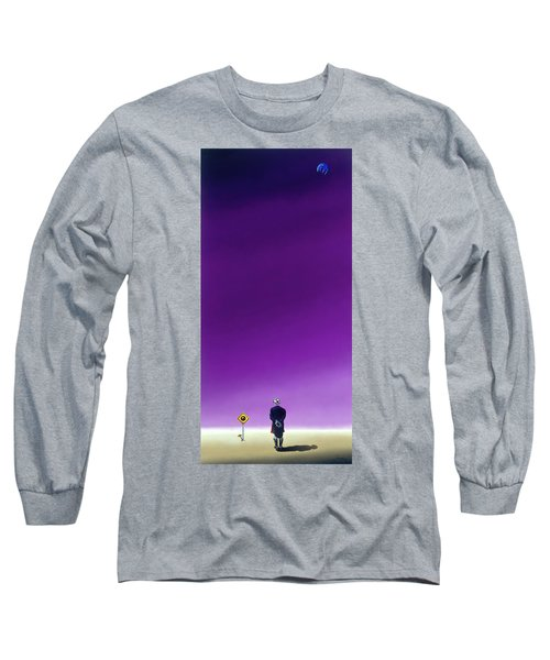 Standing Alone Waiting For The Bowling Balls To Fall When Night Comes Long Sleeve T-Shirt