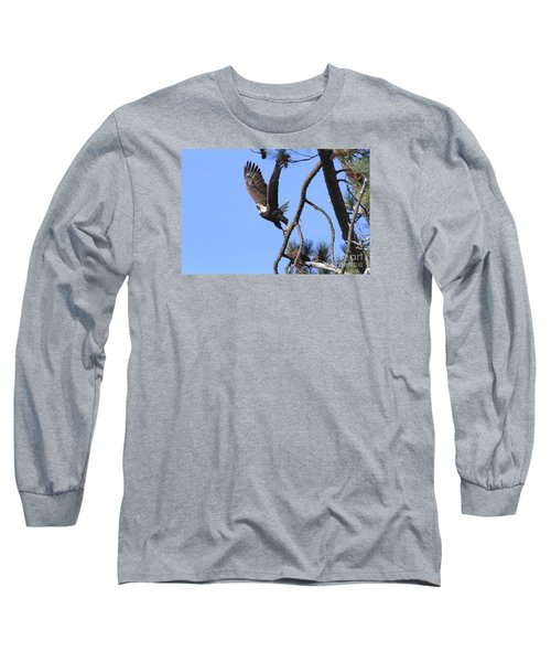 Long Sleeve T-Shirt featuring the photograph Standing Eagle by Geraldine DeBoer