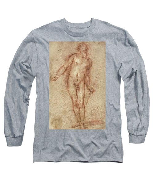 Standing Male Nude Long Sleeve T-Shirt