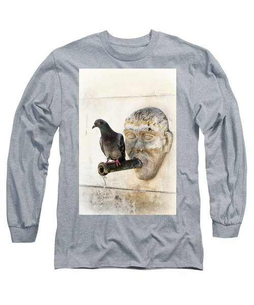 Long Sleeve T-Shirt featuring the photograph Standing On The Water by Edgar Laureano