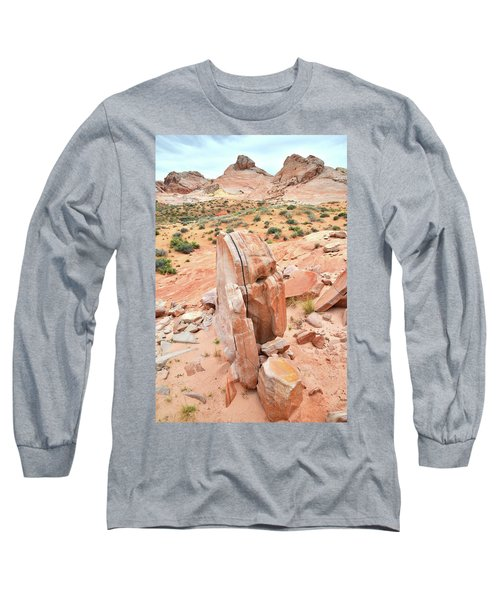 Long Sleeve T-Shirt featuring the photograph Standup Sandstone In Valley Of Fire by Ray Mathis