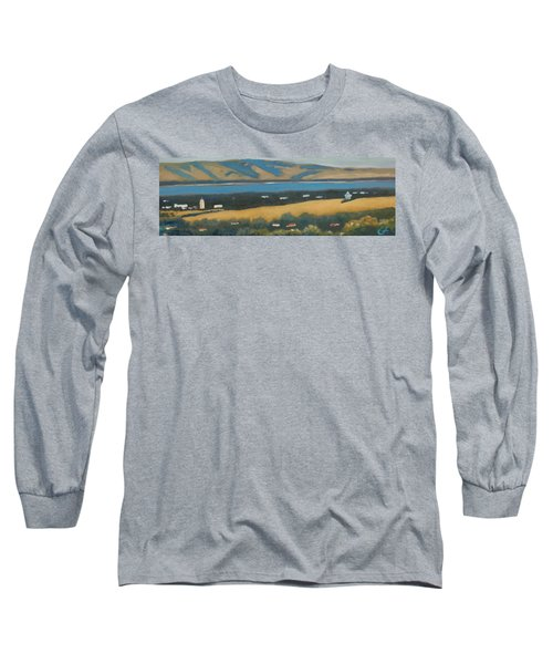 Long Sleeve T-Shirt featuring the painting Stanford By The Bay by Gary Coleman