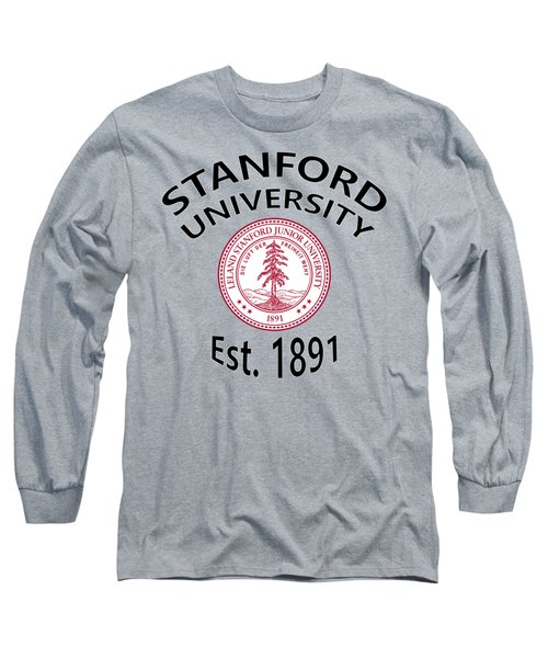 Long Sleeve T-Shirt featuring the digital art Stanford University Est 1891 by Movie Poster Prints