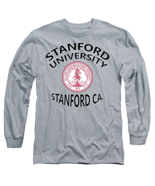 Long Sleeve T-Shirt featuring the digital art Stanford University Stanford California  by Movie Poster Prints