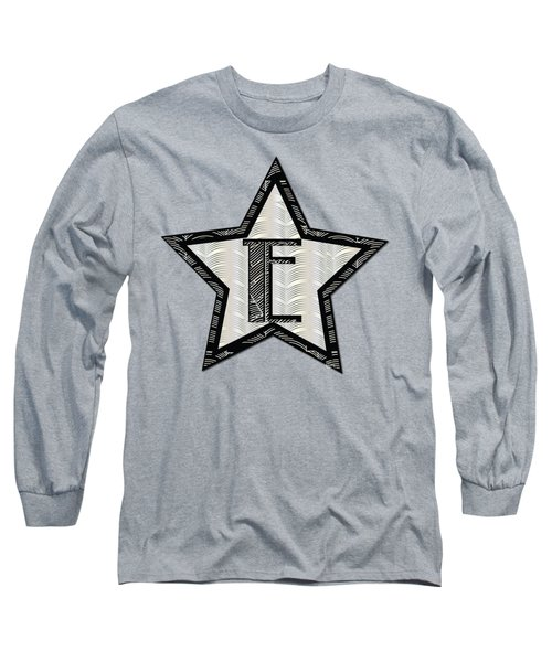 Star Of The Show Art Deco Style Letter E Long Sleeve T-Shirt