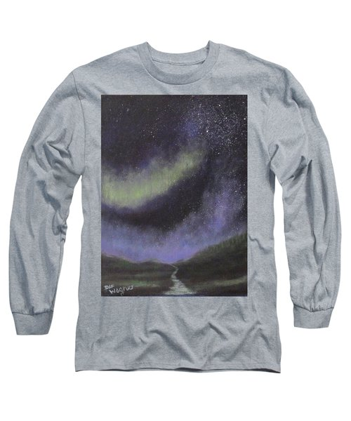 Long Sleeve T-Shirt featuring the painting Star Path by Dan Wagner