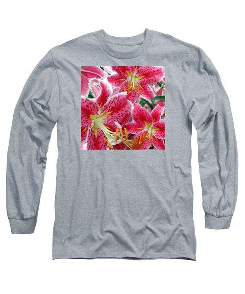 Stargazer Lilies Long Sleeve T-Shirt