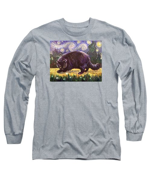 Long Sleeve T-Shirt featuring the painting Starry Night Stroll by Laura Aceto
