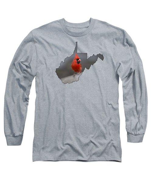 State Bird Of West Virginia Long Sleeve T-Shirt by Dan Friend
