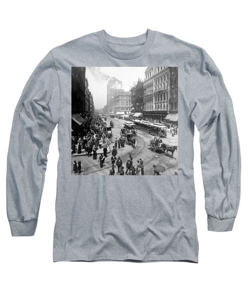 State Street - Chicago Illinois - C 1893 Long Sleeve T-Shirt