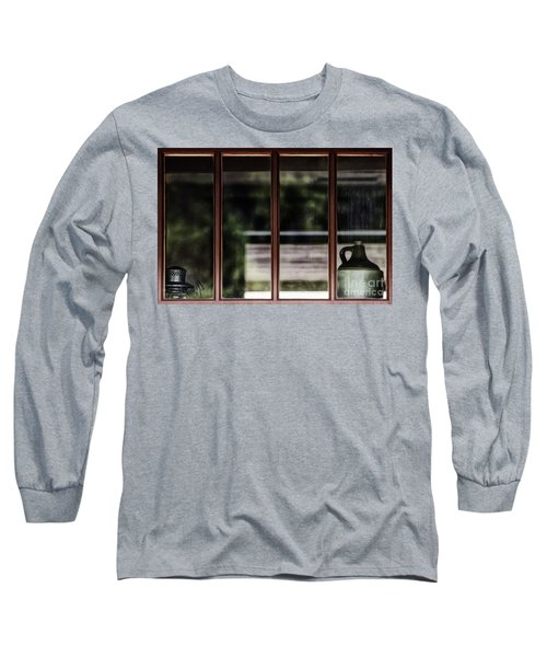 Long Sleeve T-Shirt featuring the photograph Station Window by Brad Allen Fine Art
