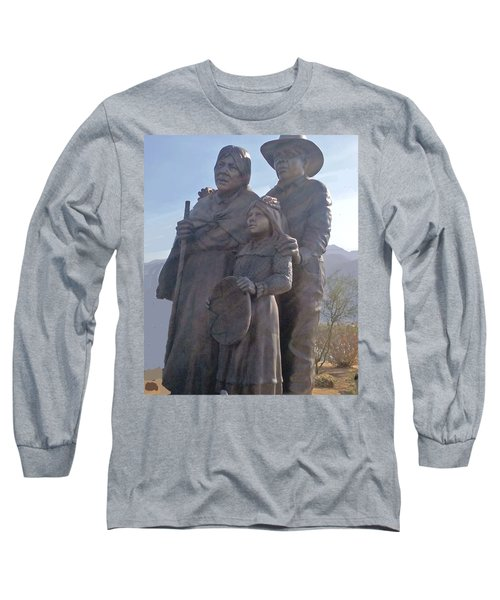 Statuary Dedicated To The American Indian Long Sleeve T-Shirt by Jay Milo