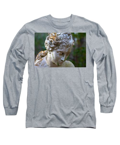 Statue At Magnolia Gardens Long Sleeve T-Shirt