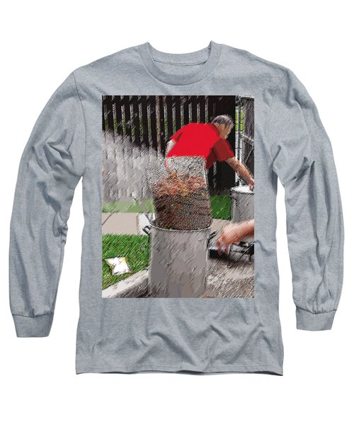 Steaming Mud Bugs For Falvor Long Sleeve T-Shirt