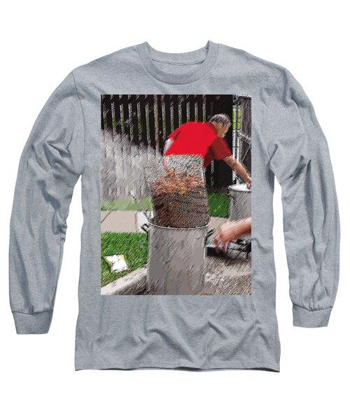 Steaming Mud Bugs For Falvor Long Sleeve T-Shirt
