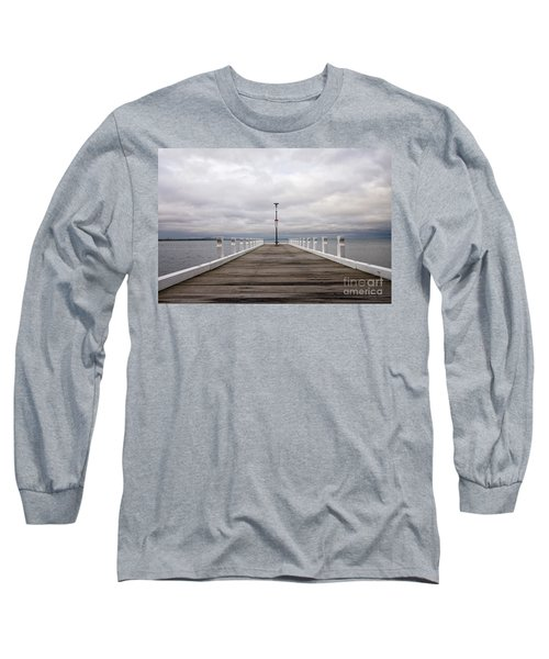Steampacket Quay Long Sleeve T-Shirt by Linda Lees