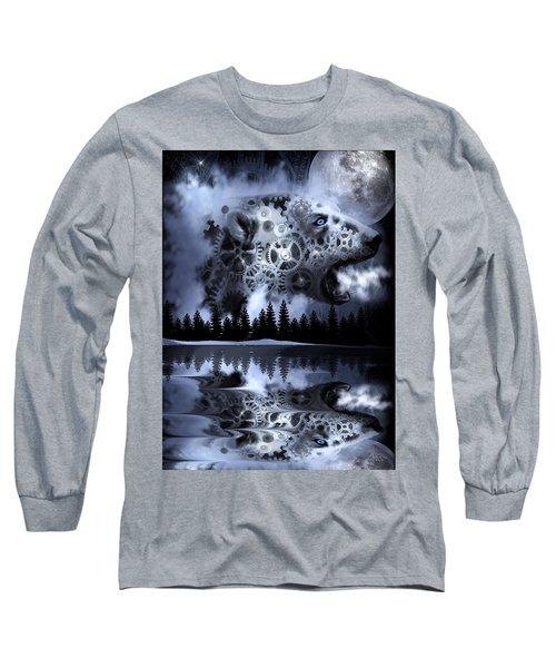 Steampunk Polar Bear Landscape Long Sleeve T-Shirt