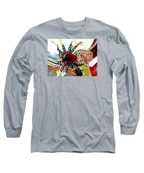 Steampunk Spider Jewel Long Sleeve T-Shirt by Justin Moore