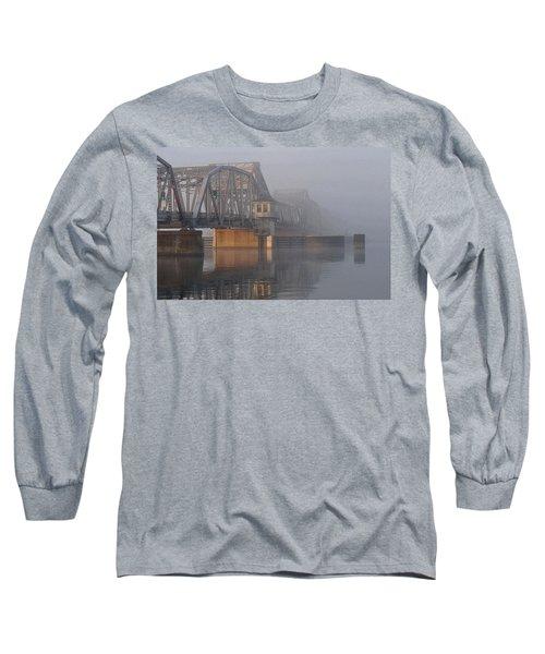 Steel Bridge In Fog Long Sleeve T-Shirt