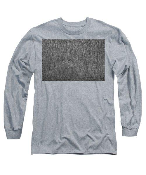Steel Gray Grass Long Sleeve T-Shirt by Glenn Gemmell