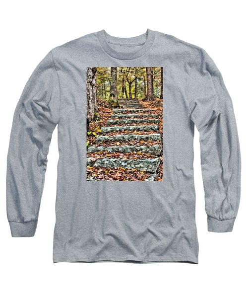 Long Sleeve T-Shirt featuring the photograph Step Into The Woods by Debbie Stahre